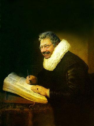 Photo-portait d'après Rembrandt
