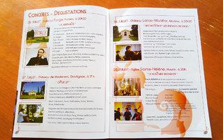 Programme de salle, Rencontres Musicales Internationales des Graves