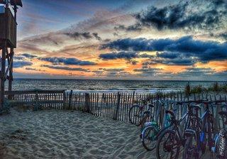 La plage à vélo