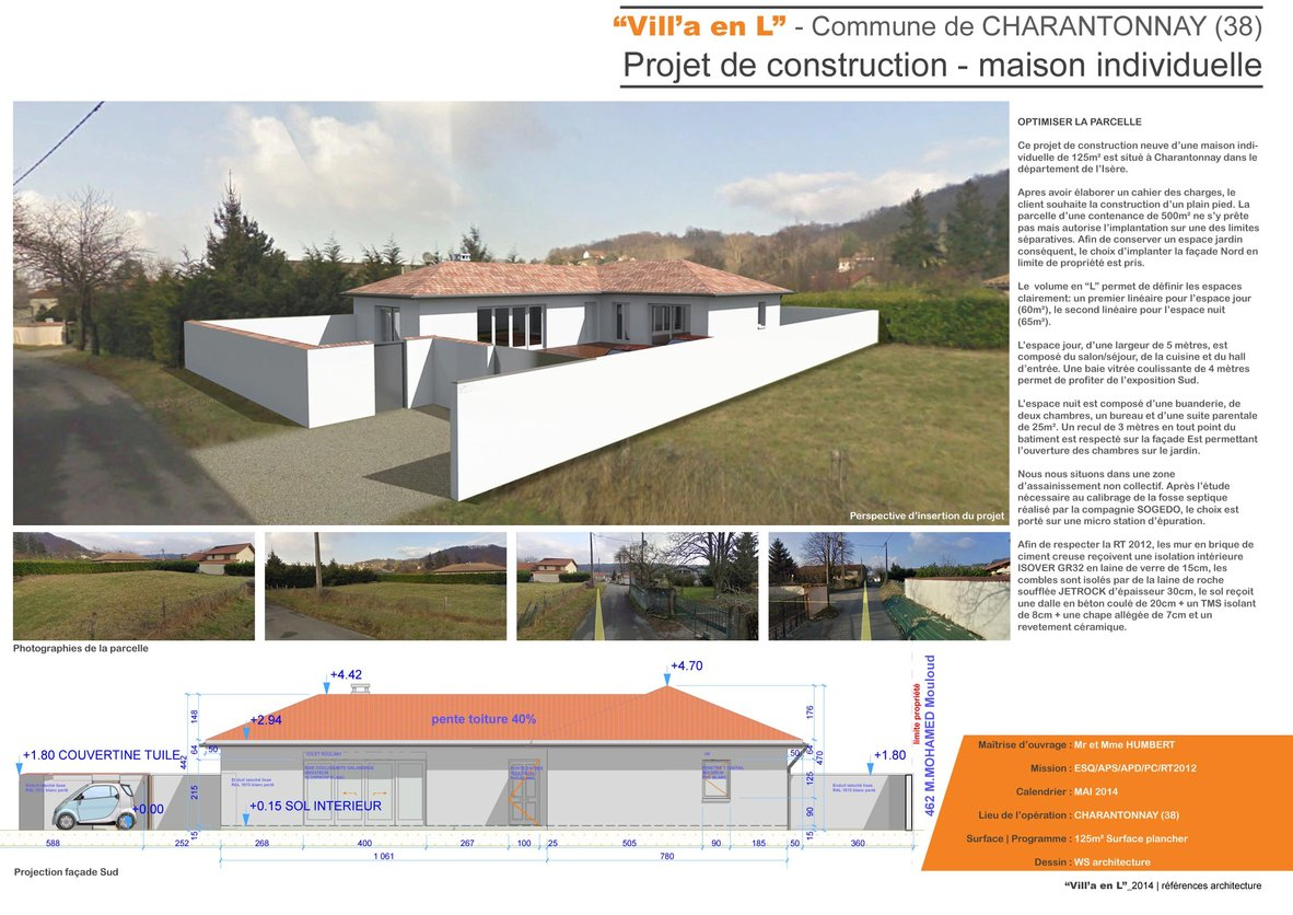 Sautarel willy architecte de book portfolio - Construction 3m limite propriete ...