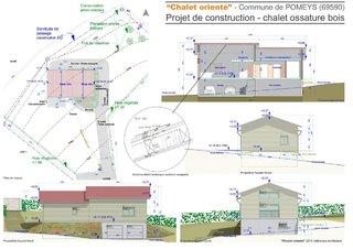 """""""Chalet orienté"""" - Projet de construction d'un chalet à ossature bois"""