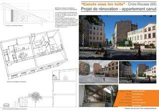 """""""Canuts sous les toits"""" - Projet de rénovation d'un appartement Canut"""