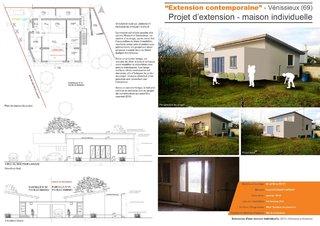 """""""Extension contemporaine"""" - Projet d'extension d'une maison individuelle"""