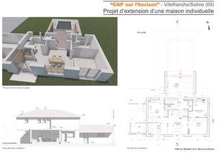 CAP sur l'horizon-Projet d'extension d'une maison individuelle