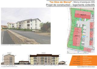 Le clos de marcy-Projet de construction de 21 logements collectifs