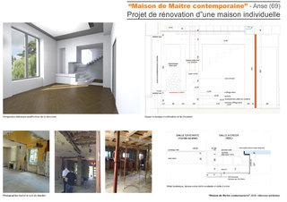 Maison de Maître contemporaine-Projet de rénovation d'une maison individuelle
