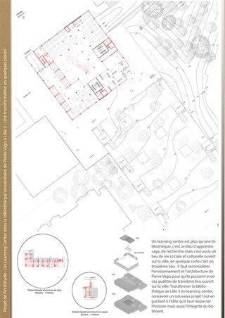 Un Learning Center à Lille 3 - Plans et détails